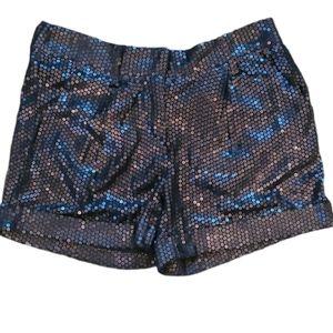 Arden B Black Sequin Shorts Size M